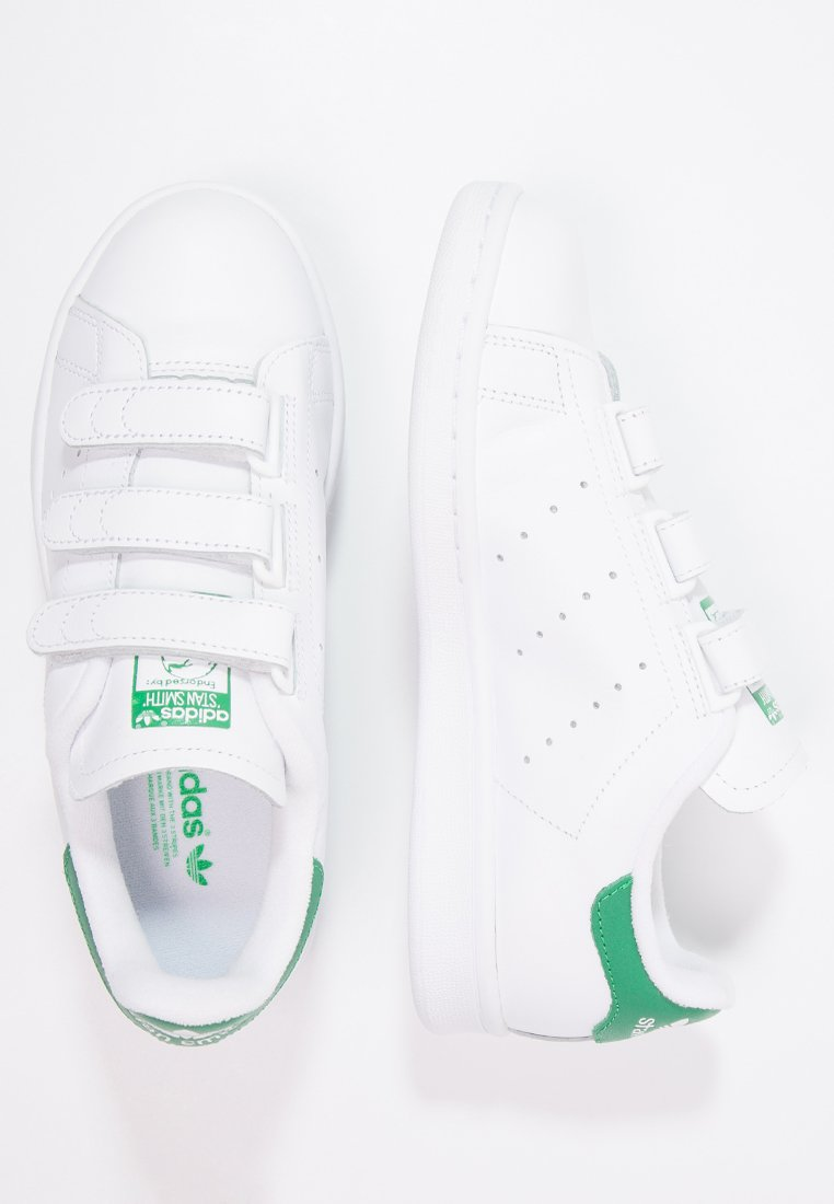 STAN SMITH LACE-FREE SHOES - Sneakers laag - footwear white / green