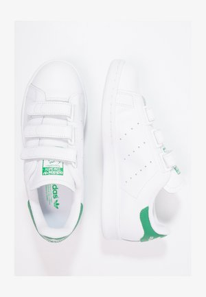 STAN SMITH LACE-FREE SHOES - Trainers - footwear white / green