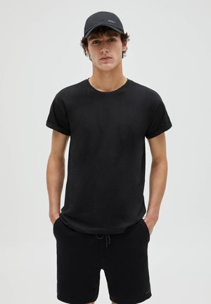 TWO PACK MUSCLE FIT - T-shirt - bas - black/khaki