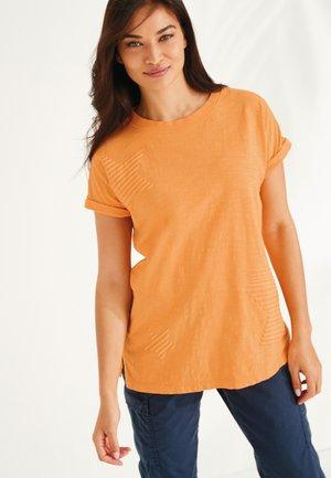 T-shirt med print - ochre