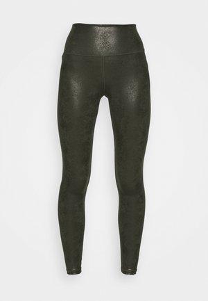 HUGGER CRACKLE - Leggings - Trousers - olive daze