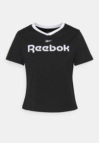 Reebok - LINEAR LOGO TEE - Print T-shirt - black - 3
