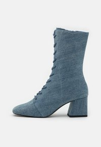 Monki - VEGAN THELMA BOOT - Lace-up ankle boots - blue denim - 1