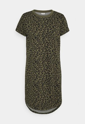 JDYIVY LIFE LEO DRESS - Jerseykjole - kalamata/black