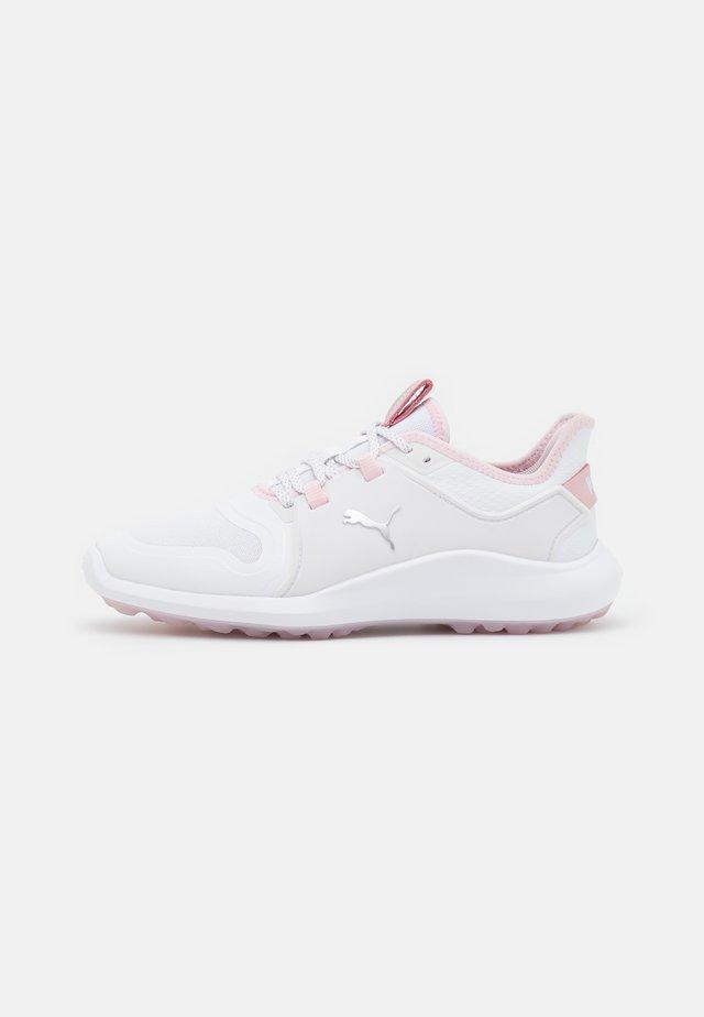 IGNITE FASTEN8 - Golfschoenen - white/silver/pink lady