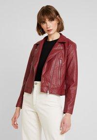 JDY - YONG JACQUELINE - Faux leather jacket - pomegranate - 0