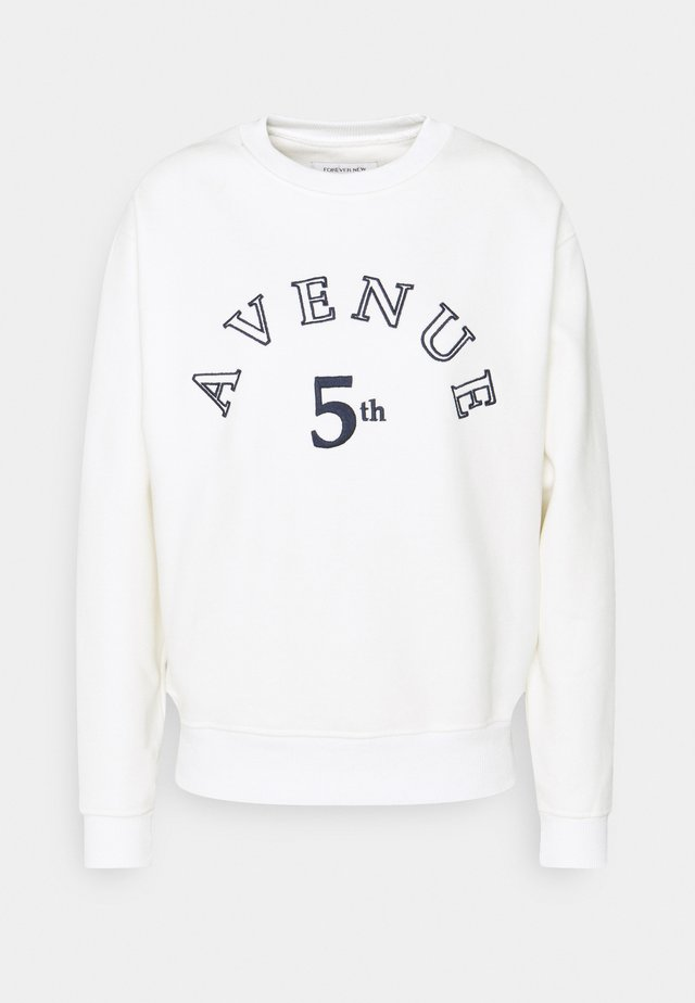 SLOAN SLOGAN L'AMOUR - Sweatshirts - porcelain navy embroidery