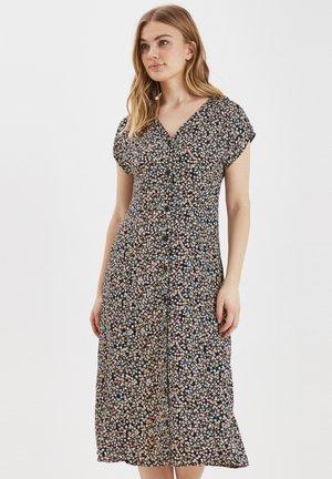 BYISOLE LONG SS DRESS - LIGHT WOVEN - Shirt dress - black combi 1
