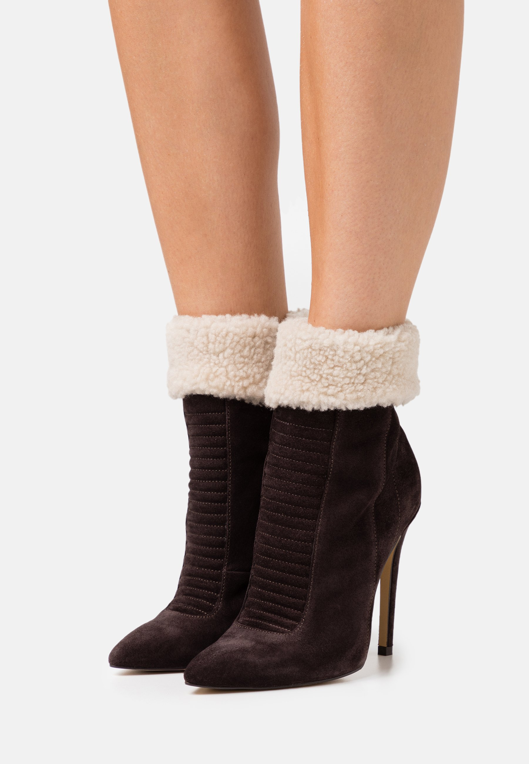 Women LEATHER - Winter boots - brown