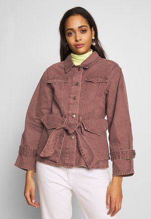 BELTED JACKET - Cowboyjakker - brown
