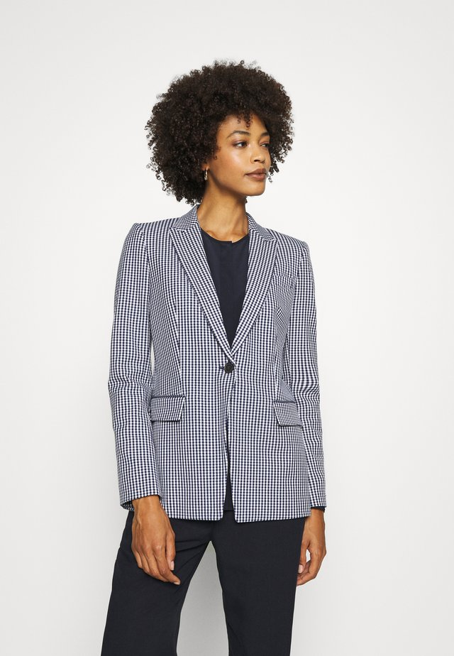 Blazer - gingham blue ink/white