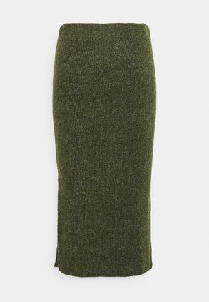 PCFANNA SKIRT - Pencil skirt - winter moss
