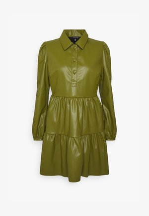 COLLARED MINI DRESS - Freizeitkleid - moss