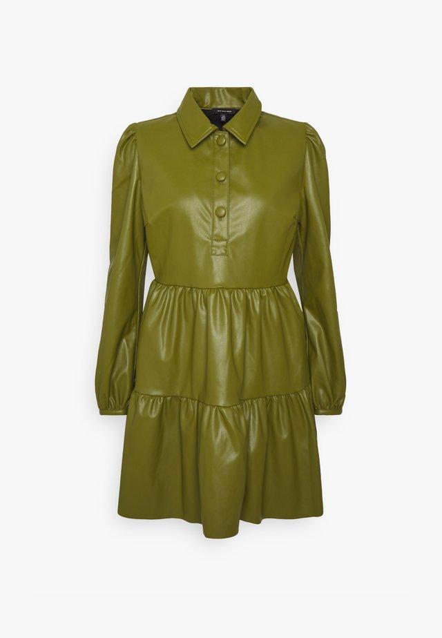 COLLARED MINI DRESS - Denní šaty - moss