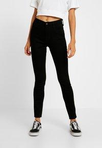 Hollister Co. - HIGH RISE SUPER - Jeans Skinny Fit - black clean - 0