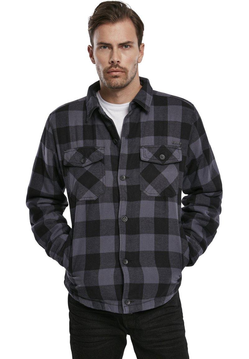Brandit - Denim jacket - black/grey