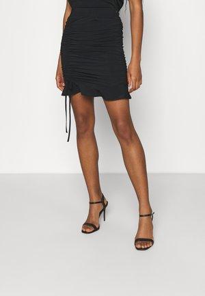 SUZY ROUCHED SKIRT - Minisukně - black