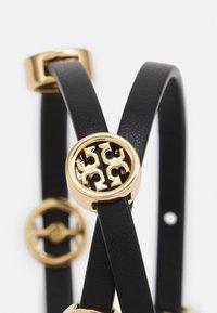 Tory Burch - MILLER DOUBLE WRAP BRACELET - Bracelet - gold-coloured/black - 3