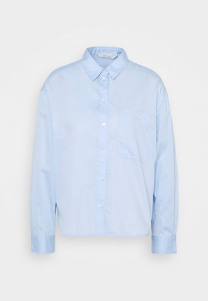 BLOUSE LONG SLEEVE KENT COLLAR - Blůza - light blue