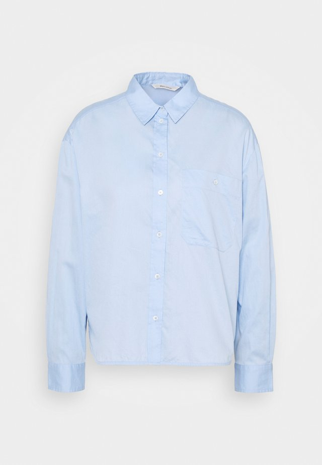 BLOUSE LONG SLEEVE KENT COLLAR - Blouse - light blue
