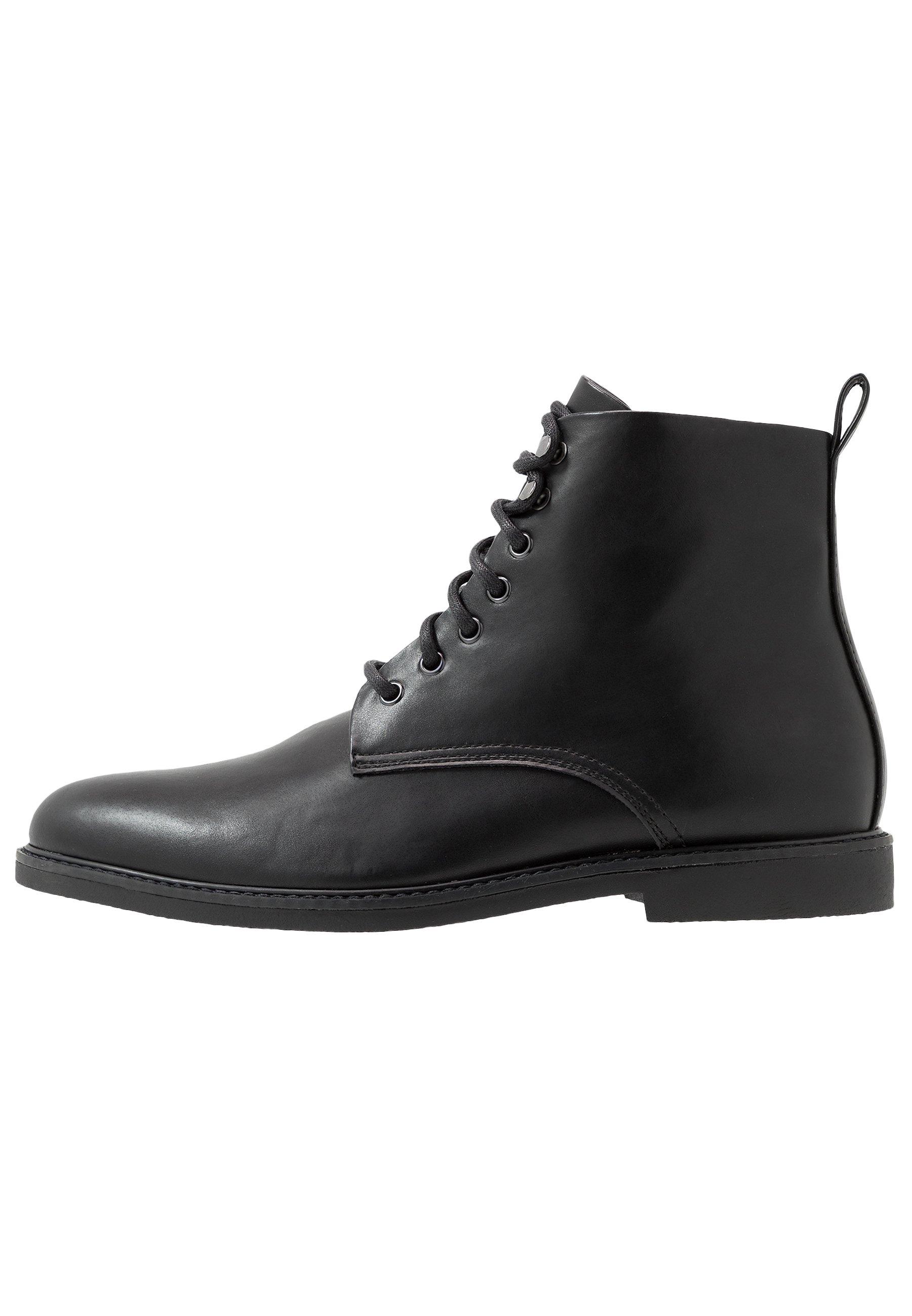Men Lace-up ankle boots - black