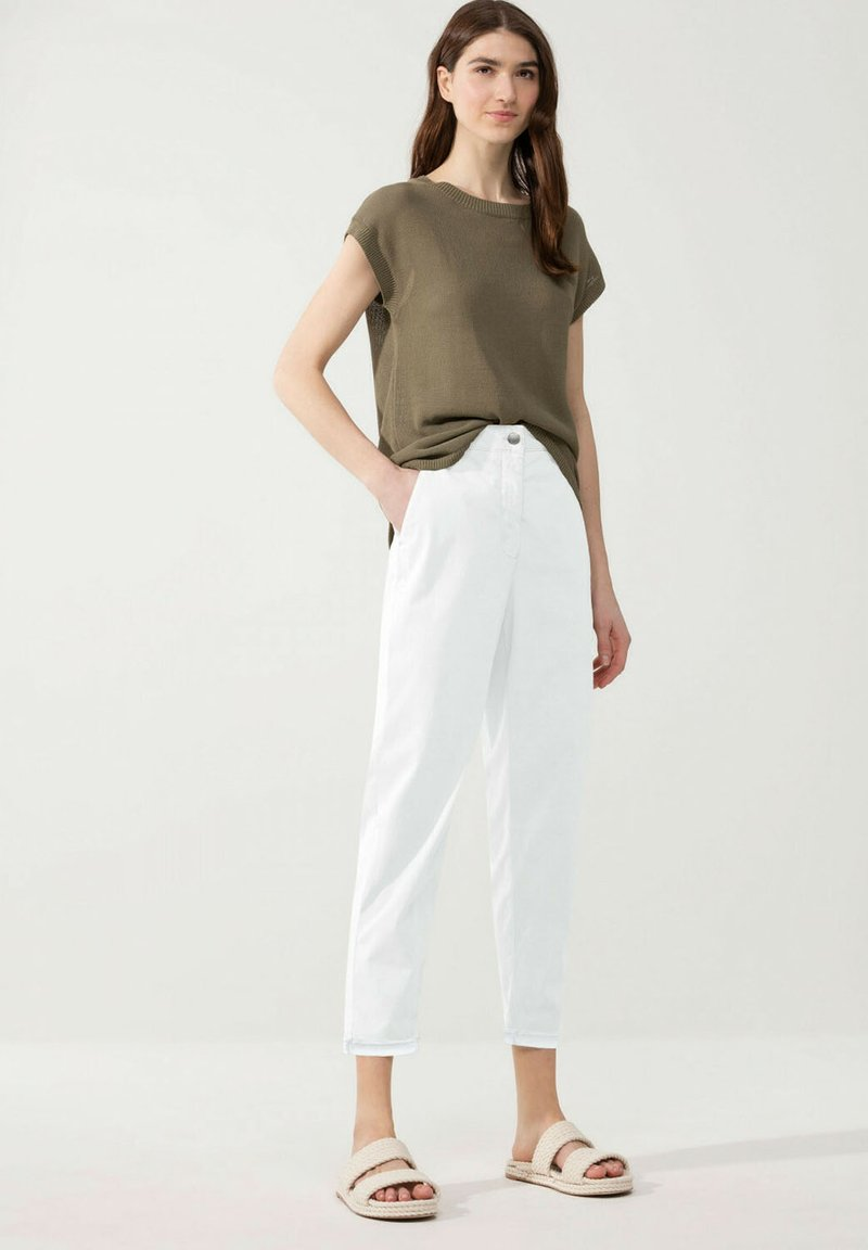 Luisa Cerano - Straight leg jeans - white