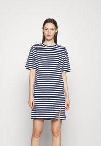 rag & bone - THE SLUB DRESS LABEL - Jersey dress - white/blue - 0