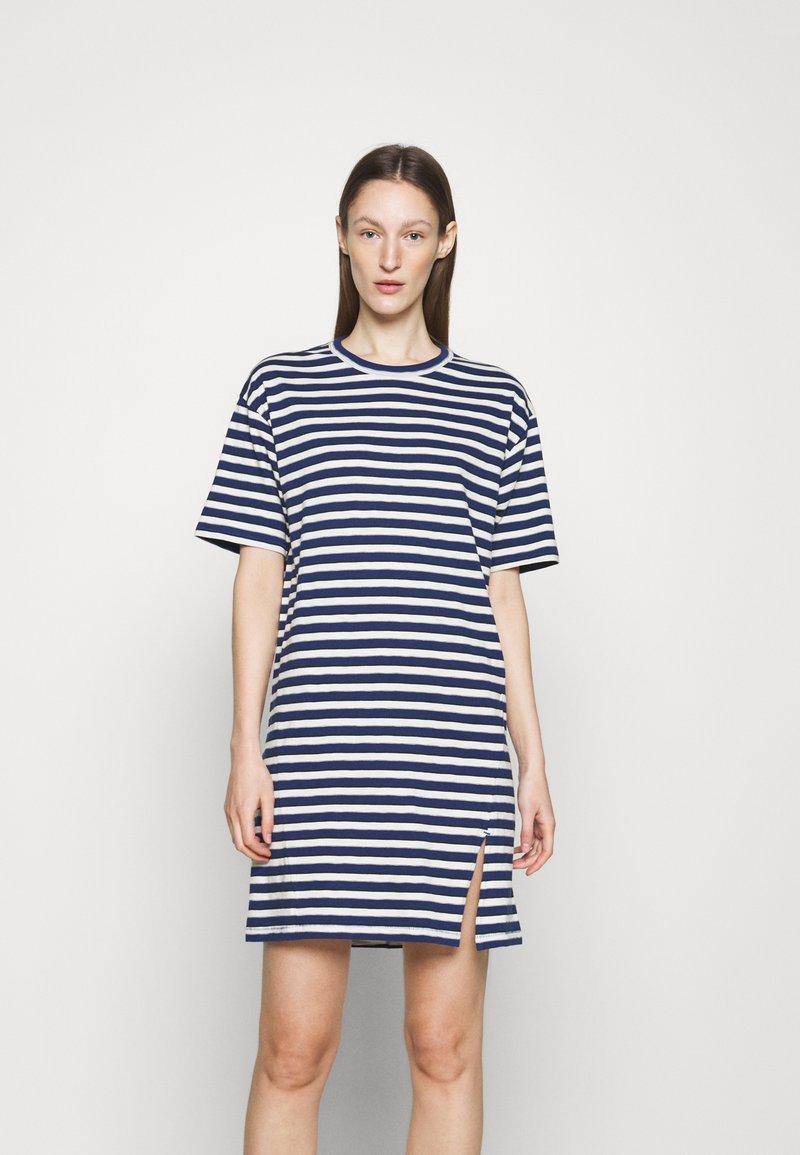 rag & bone - THE SLUB DRESS LABEL - Jersey dress - white/blue