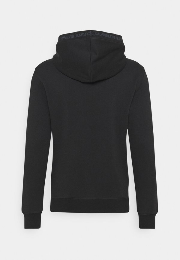 Calvin Klein Jeans Bluza z kapturem - black/czarny Odzież Męska AUIJ