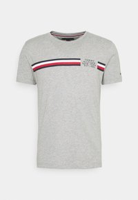 CORP SPLIT TEE - Print T-shirt - medium grey heather