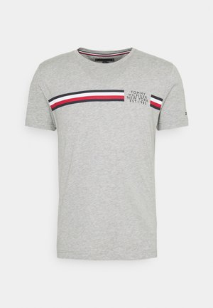 CORP SPLIT TEE - Triko s potiskem - medium grey heather