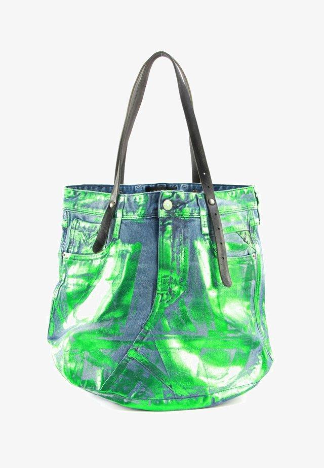 Tote bag - green denim