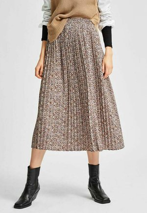 Pleated skirt - cappuccino