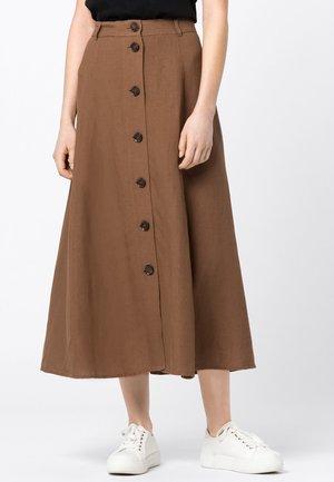 A-line skirt - noisette