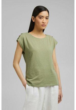 BUTTON - Basic T-shirt - light khaki