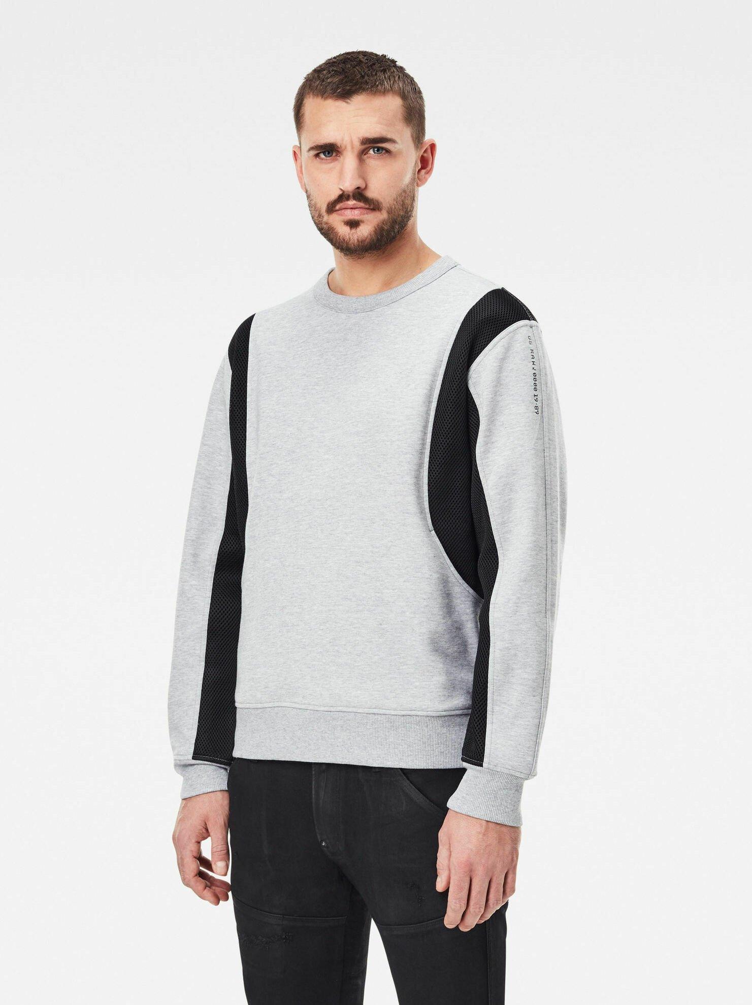 Homme MOTO MESH ROUND LONG SLEEVE - Sweatshirt