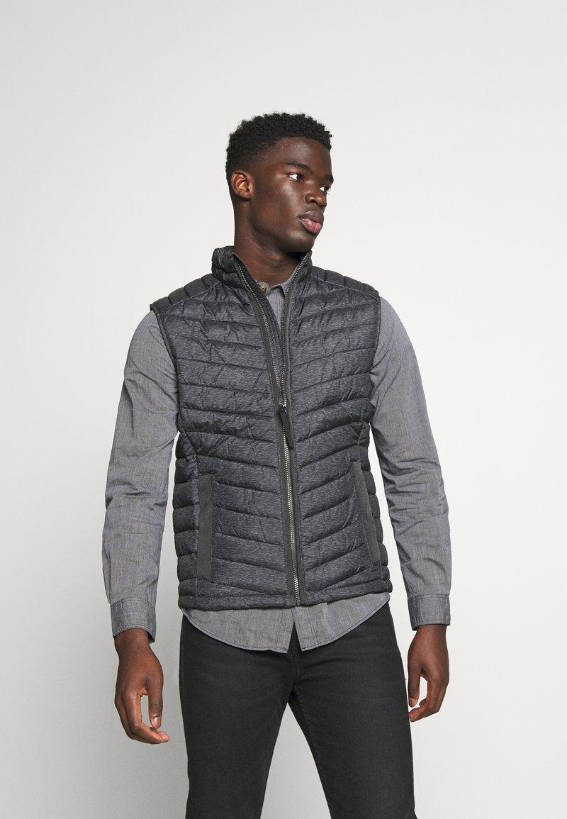 TOM TAILOR - Waistcoat - grey melange design