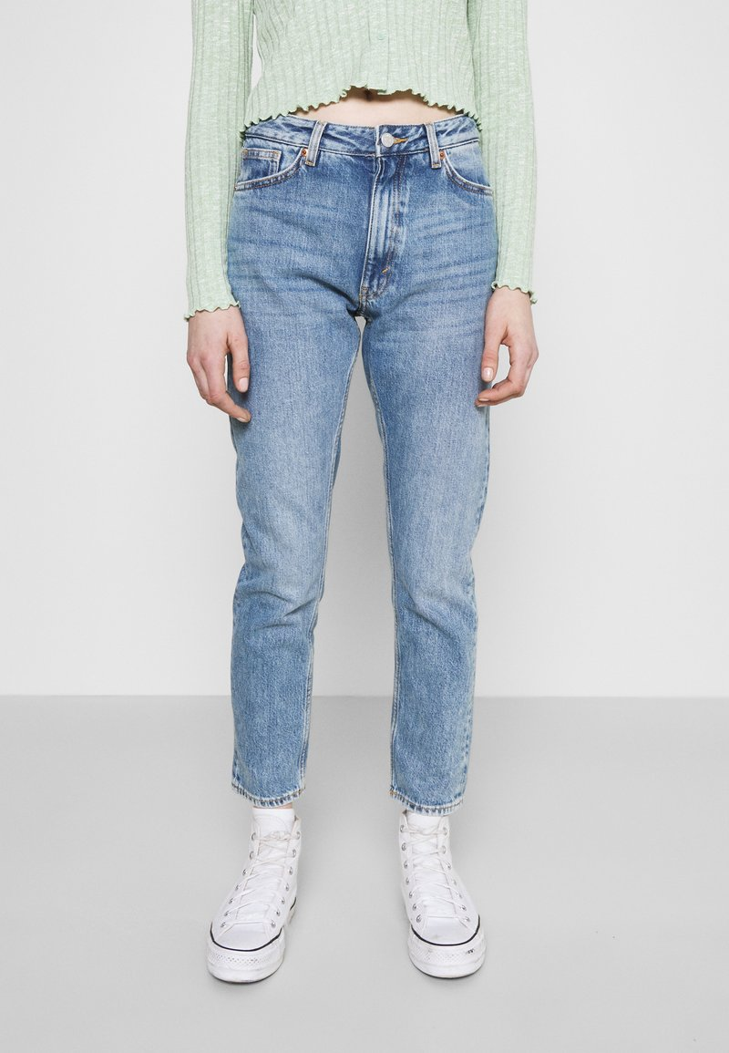 Monki - Jeans a sigaretta - blue medium dusty