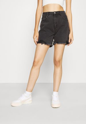 CLAUDIA CUT OFF - Denim shorts - black rose