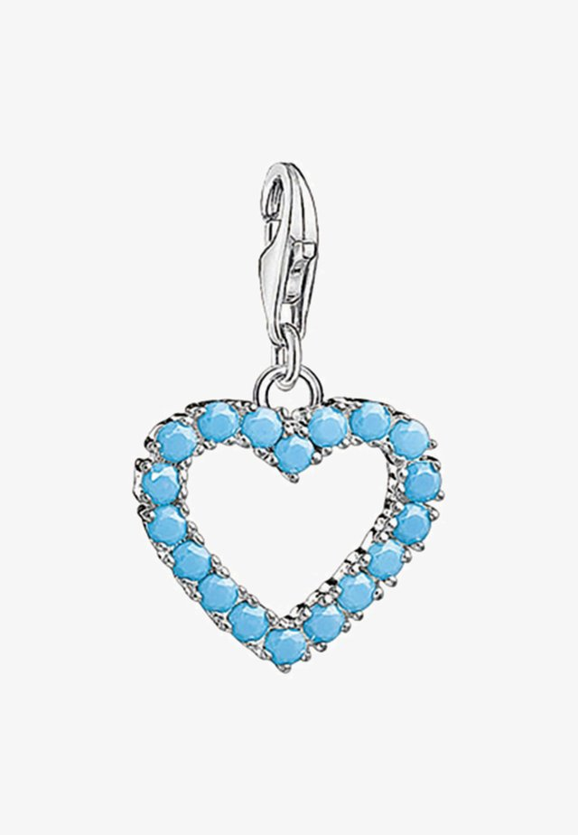 Herz - Hanger - ssilver/turquoise