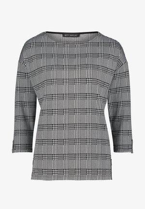 CASUAL MIT KNÖPFEN - Sweatshirt - schwarz weiß