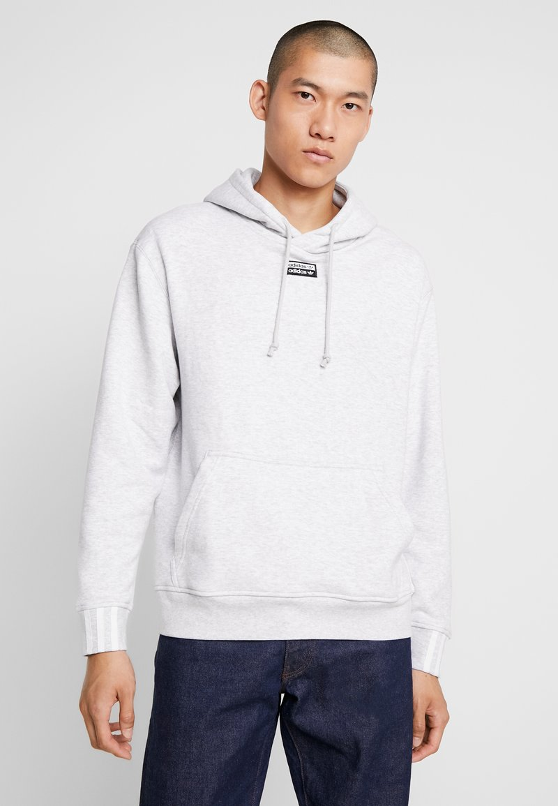 adidas Originals - HOODY - Bluza z kapturem - light grey heather