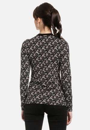 FRENCH - Long sleeved top - schwarz allover