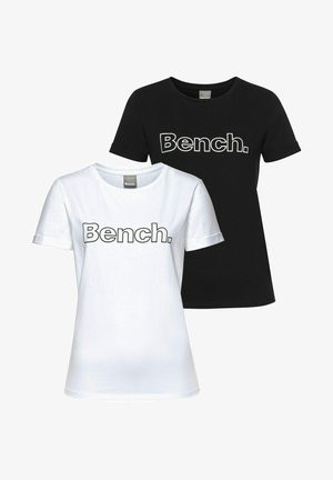 2 PACK - Print T-shirt - schwarz weiß