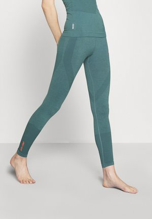 ONPAYME CIRCULAR TIGHTS - Leggings - goblin blue/fiery coral