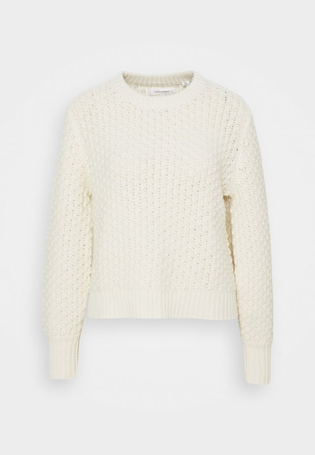 POPCORN STITCH SWEATER - Pullover - cream