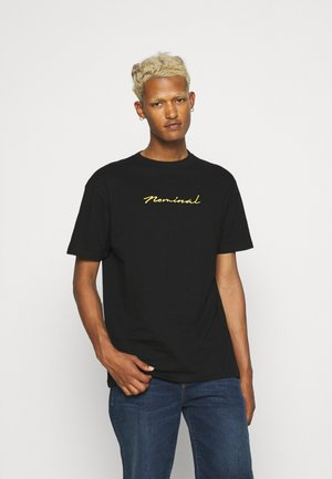GOLD TEE - Printtipaita - black