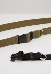 New Look - BUCKLE BELT 2 PACK - Skärp - black/dark khaki - 4
