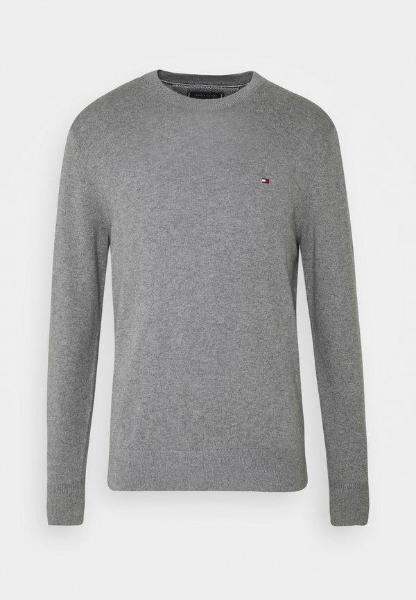 Tommy Hilfiger PIMA CREW NECK - Sweter - grey/ciemnoszary melanż Odzież Męska BACB