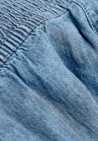 Next - DENIM LIGHT WASH CULOTTES WITH SCRUNCHIE (3-16YRS) - Straight leg jeans - blue - 4